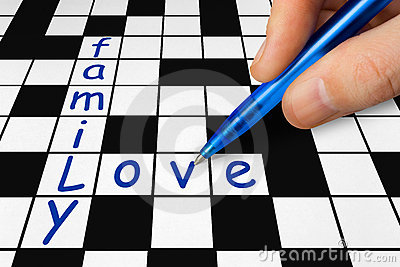 Crossword - family and love