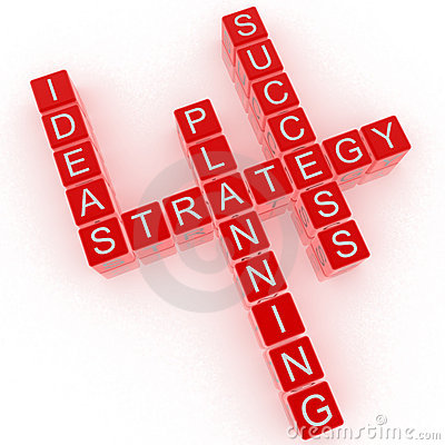 Crossword idea, strategy, planning, success