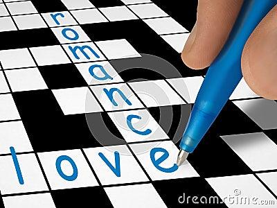 Crossword - love and romance