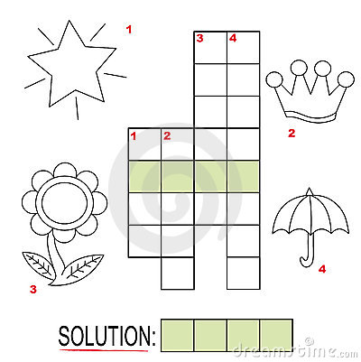Free Crossword Puzzle For Kids, Part 3 Royalty Free Stock Images - 17250959