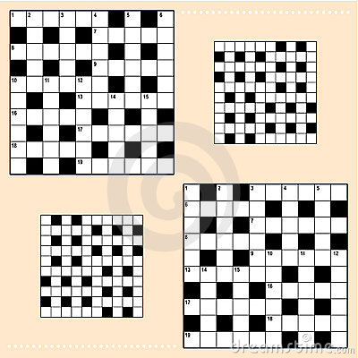 Free Crossword Puzzle Grids Royalty Free Stock Photos - 10210248