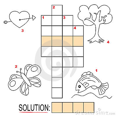 Crossword puzzle for kids, part 2