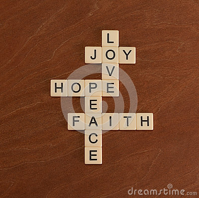 Free Crossword Puzzle With Words Faith, Hope, Love. Faith Concept. Stock Photos - 92541293