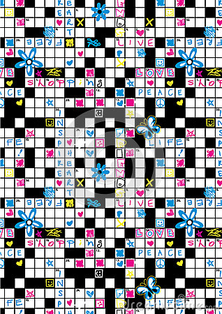 Free Crossword Repeat Pattern. Stock Photo - 36574340
