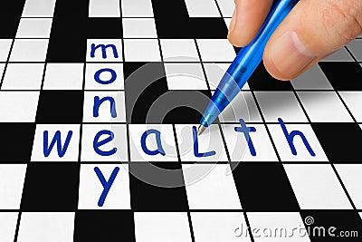 Crossword - wealth and money