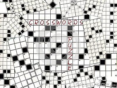 Crosswords puzzle collage