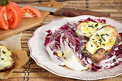 Crostini Radicchio Salad