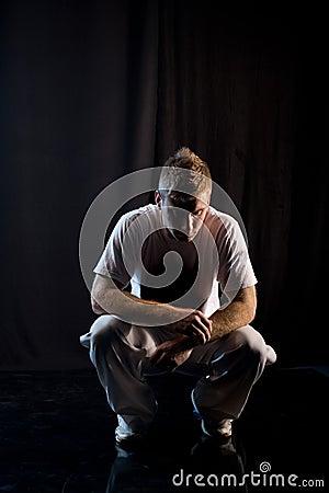 Crouching in dark
