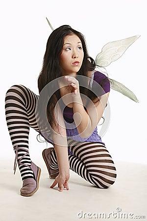 Free Crouching Fairy Stock Photos - 375153