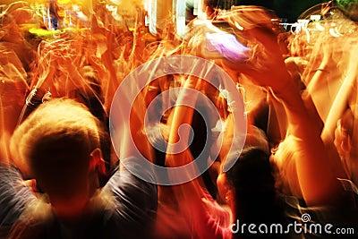 Crowd in blur