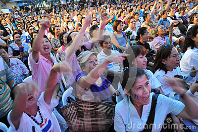 Crowd at an Election Campaign Rally in Bangkok Editorial Image