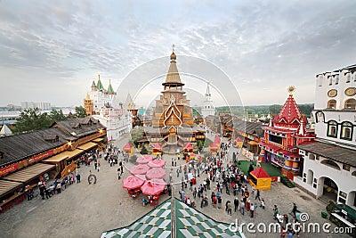 Crowd in entertainment center Kremlin Editorial Photography