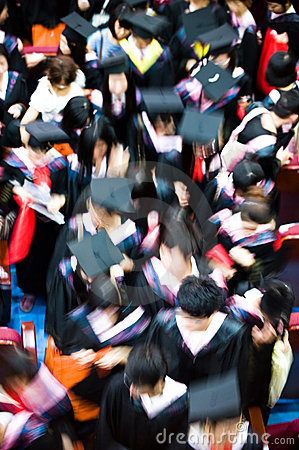 Crowd of graduates