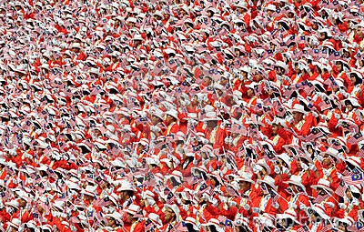 Crowd at Malaysia s independent day parade Editorial Image