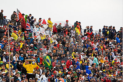 The crowd at Montreal Grand prix Editorial Image