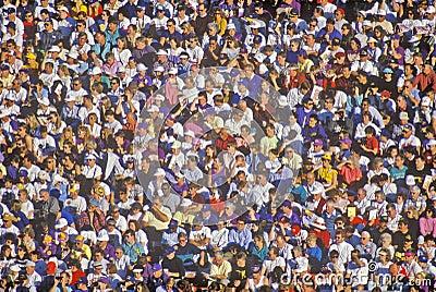 Crowd of multi-cultural people at Rose-Bowl Editorial Image