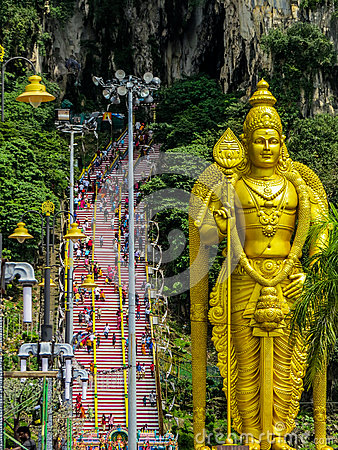 Free Crowd Of Hindus, Batu Caves, Malaysia Stock Photography - 85158732