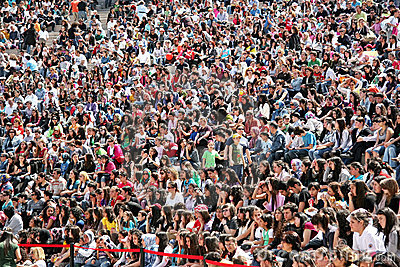 Crowd of people Editorial Image