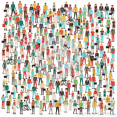 Crowd Of People Stock Vector - Image: 62517844