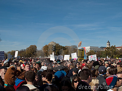 Crowd during Rally to Restore Sanity and/or Fear Editorial Image