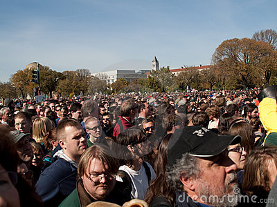 Crowd during Rally to Restore Sanity and/or Fear Editorial Stock Photo