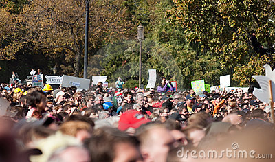 Crowd during Rally to Restore Sanity and/or Fear Editorial Photography