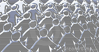 Crowd scene abstract