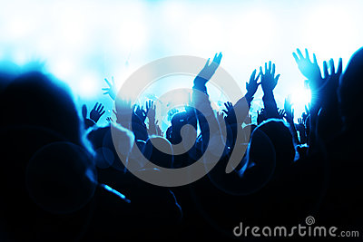 Crowd Sheering at the Concert