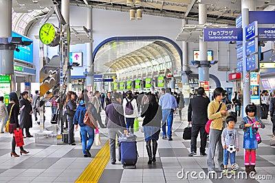 Crowd at Shinagawa train station Tokyo Editorial Photo