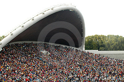 Crowd at the song festival grounds