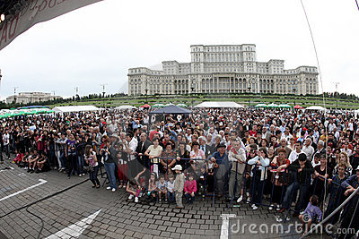 Crowd of spectators at event Editorial Photography