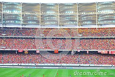 Crowd at stadium Editorial Image