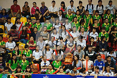 Crowd of supporter at sporting event hall Editorial Photo