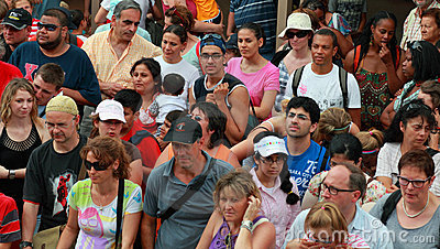 Crowd of tourists Editorial Stock Image