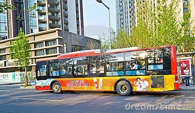 Crowded bus Editorial Stock Photo