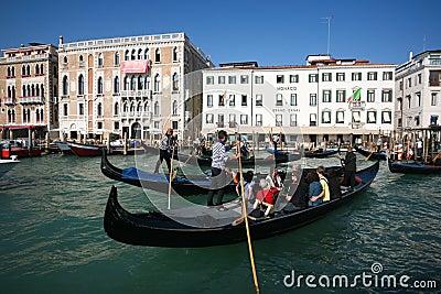 Crowded gondolas Editorial Photography