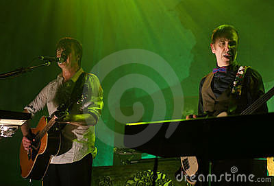 Crowded House Live Editorial Image