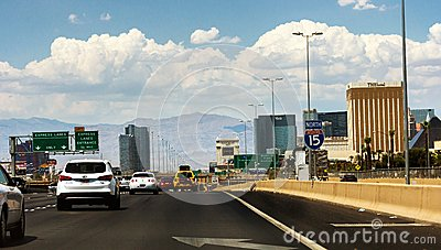 Crowded interstate in Las Vegas Editorial Photography