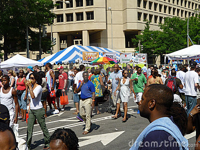 Crowded Pennsylvania Avenue Editorial Photography
