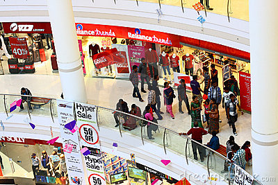 Crowded Royal Meenakshi Mall Bangalore India Editorial Image