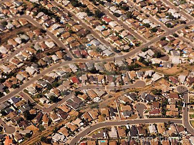 Crowded Single Family Homes in California Suburbs