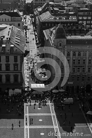 Free Crowded Square In Budapest Royalty Free Stock Photos - 148447938