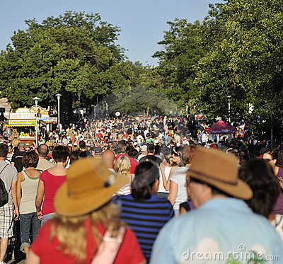 Crowded Streets at Minnesota State Fair Editorial Photo