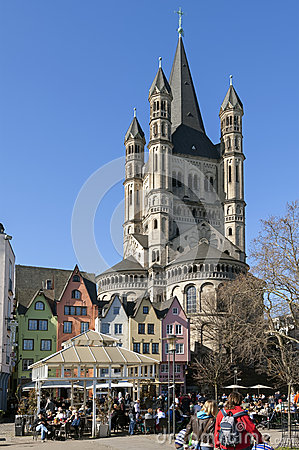 Free Crowded Terraces On Fish Market, City Cologne Royalty Free Stock Photo - 39369085
