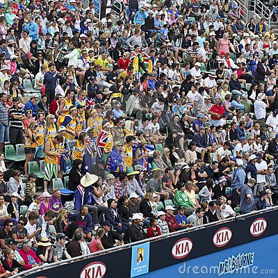 Crowds at 2011 Australian Open Editorial Stock Photo