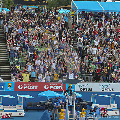 Crowds at 2011 Australian Open Editorial Photography