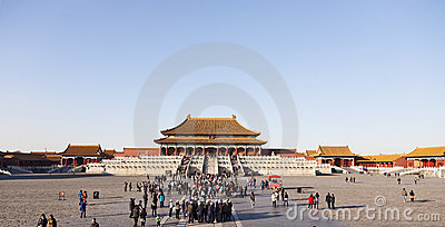Crowds at the Forbidden City Editorial Image