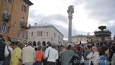 Crowds at Friuli Doc, Udine Editorial Photography