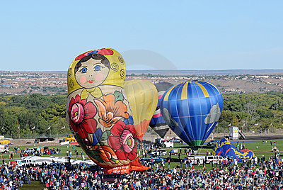 Crowds at the International Balloon Fiesta Editorial Image