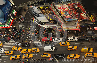 Crowds in new York CIty Editorial Stock Photo